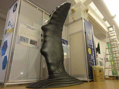 ザトウクジラのヒレの巨大模型