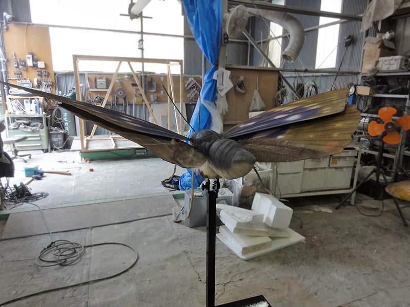 オオムラサキの展示模型
