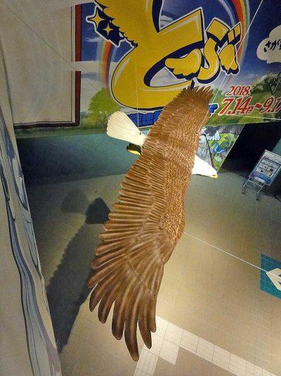 ハクトウワシの造形看板4