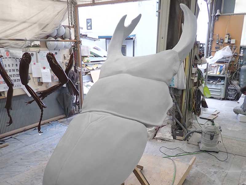 巨大オオクワガタの展示模型工程5