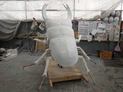 巨大オオクワガタの展示模型工程2