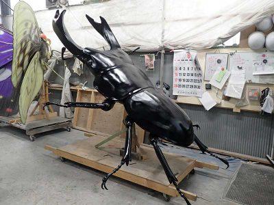巨大オオクワガタの展示模型工程6