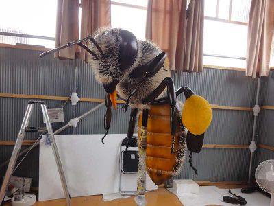 二ホンミツバチの巨大模型4