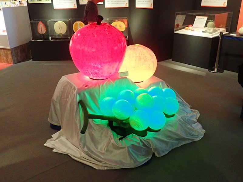 光る果物の立体造形2