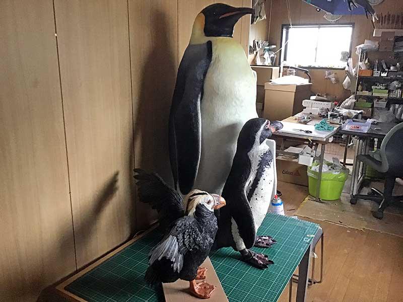 ペンギンの立体造形2