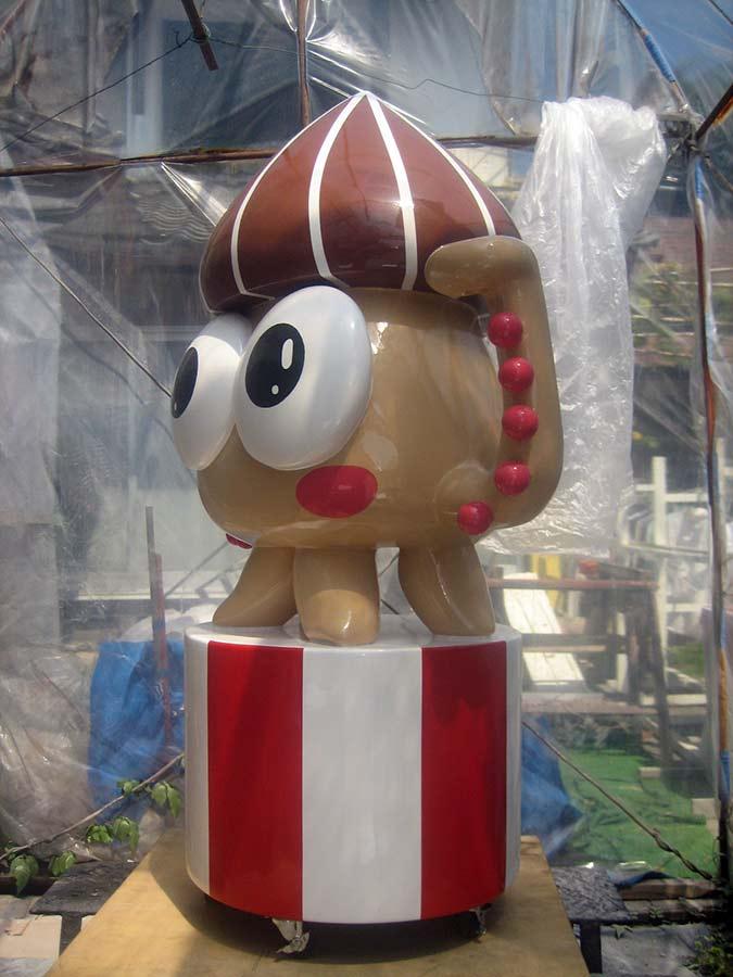 イカのキャラクターオブジェ