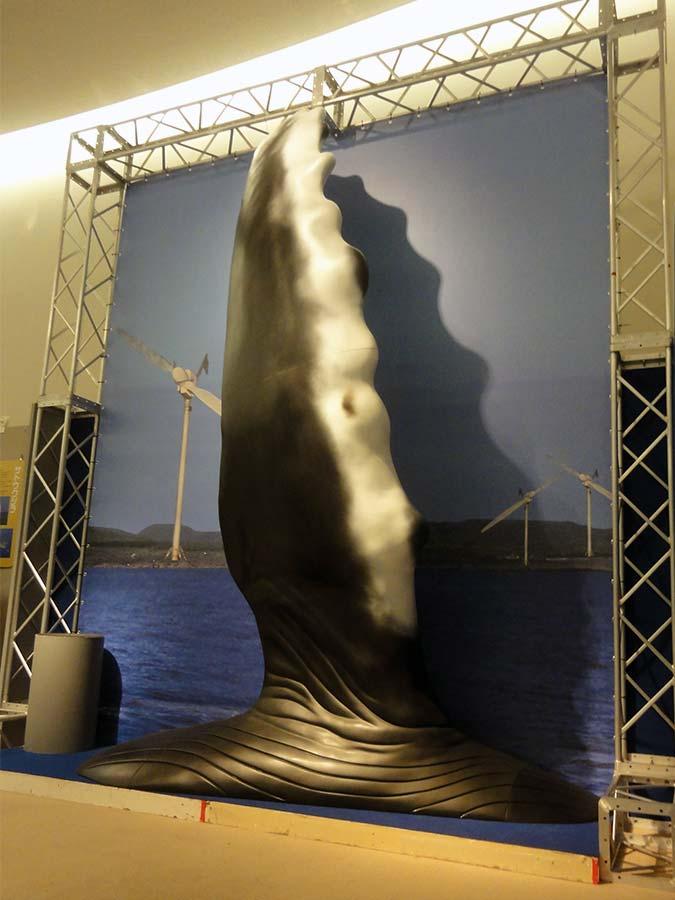 ザトウクジラのヒレの立体造形
