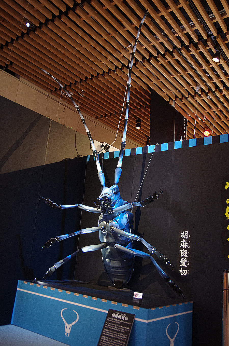 ゴマダラカミキリの巨大模型