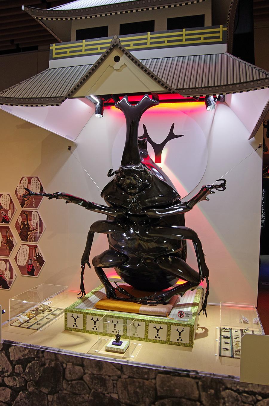 カブトムシの巨大模型